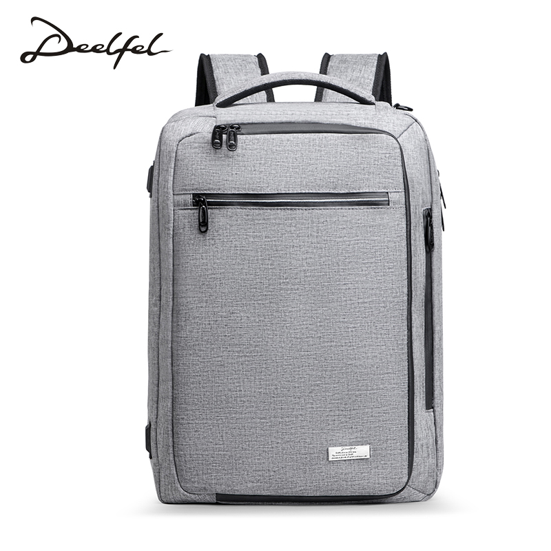 DEELFEL Backpack Men laptop Backpack waterproof Fashion Anti theft usb backpack Travel bag men Large Capacity Schoolbag compact fashion waterproof men backpack