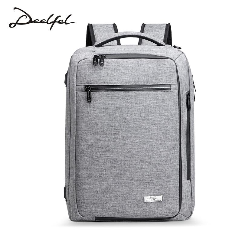 DEELFEL Backpack Men laptop Backpack waterproof Fashion Anti theft usb backpack Travel bag men Large Capacity Schoolbag fashion waterproof simple men backpack
