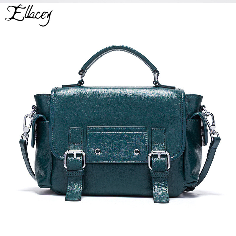 New Retro Women Genuine Leather Shoulder Bag Postman Bag Crossbody Bags For Women Designer Handbags Totes Bolsos Mujer