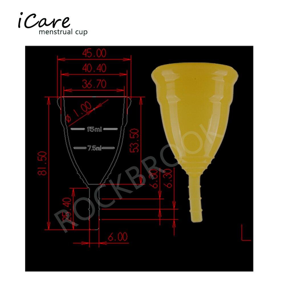 1 Unid. Menstrual Cup Female Period Use Uso soft cup 100% de grado - Cuidado de la salud - foto 4