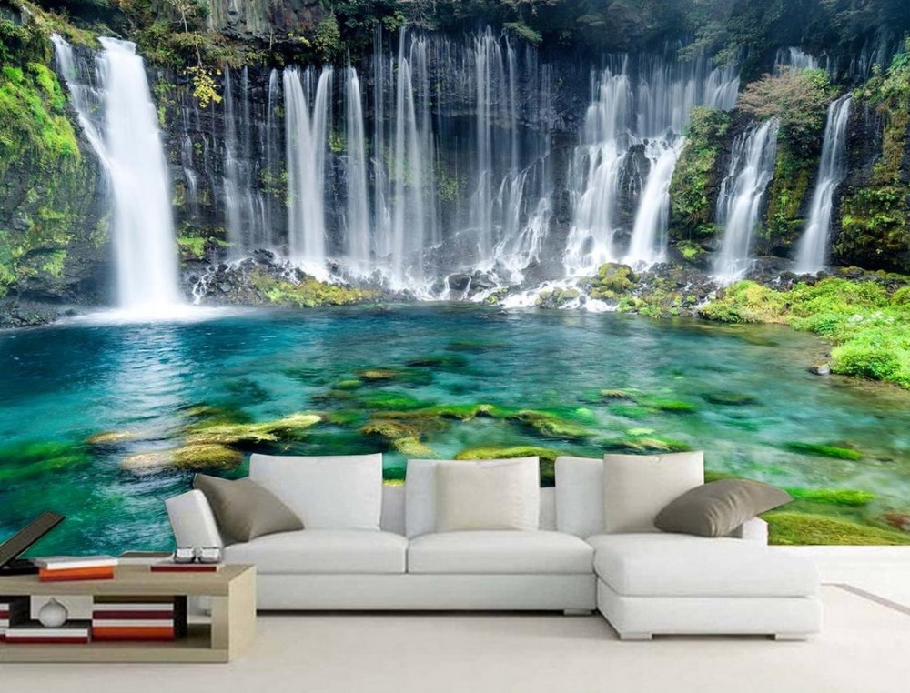 Custom 3d wallpapers for wall HD Green Landscape Simple Falls room wallpaper landscape photo wall mural комплект цифрового тв нтв плюс hd simple сибирь