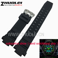 26mm * 15mm (lug) para casio skmei s-choque à prova d' água pulseira de silicone pulseira de borracha preta acessórios relógio de pulso faixa de relógio