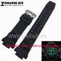 26mm * 15mm (terminal) para casio skmei s-shock impermeables correa de goma correa de reloj de silicona negro accesorios reloj de pulsera banda