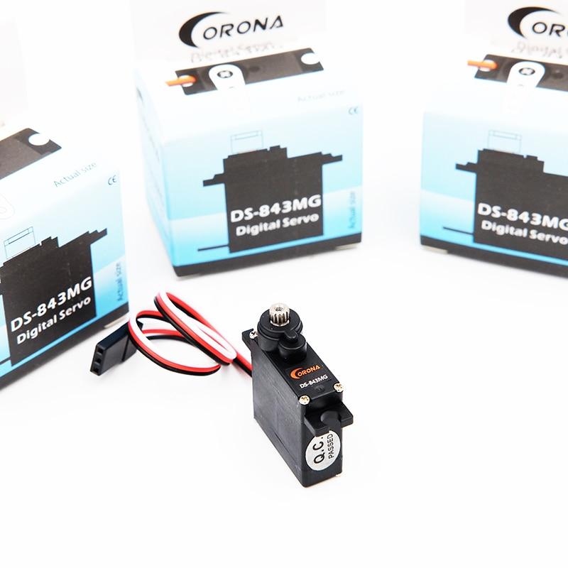 Bundled Sale 4 pcs corona DS 843MG Digital High Torque Micro Servo 4 8kg 0 10sec