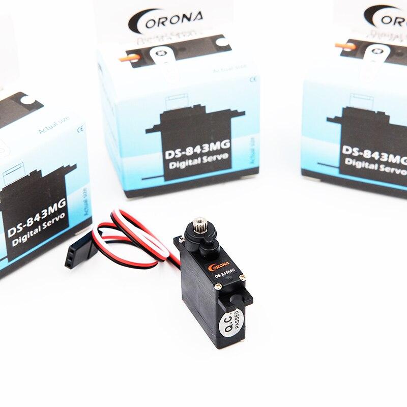 В комплекте продажа 4 шт. corona DS 843 мг g цифровой высокий крутящий момент Micro Servo 4,8 кг/0.10sec/8,5 г