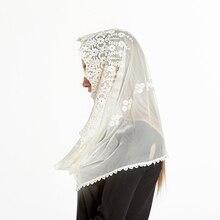 2018 Fashion Lace Scarf Luxury Brand bandana muslim hijab jersey Foulard Femme Embroidery Scarf Shawl Women Infinity Sjaal