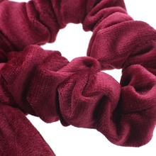 Haimiekang Cute Girl Hair Rope Velvet Scrunchies Bowknot Elastic Hair Bands for Women Bow Ties Ponytail Holder Accessories