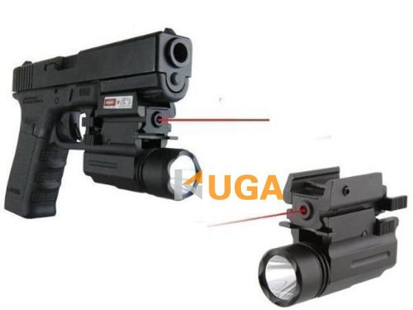 Red Dot Sight Laser LED Flashlight 2in1 Combo accessoires chasse à pistolet  Guns 1911 M9 Glock