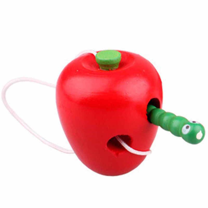 Colorido Fly Diversão Matemática Verme Comer Fruta Maçã Pêra Escolher Precoce Do Bebê De Brinquedo de Madeira Educacional Aprendizagem Auxiliar de Ensino Das Crianças Dos Miúdos