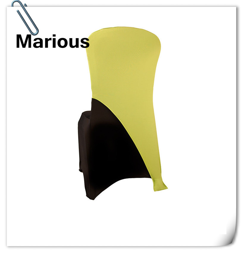 FREE SHIPPING !! 100 pieces yellow Marious spandex chair hood for wedding ,banquet, hotel WHOLESALE