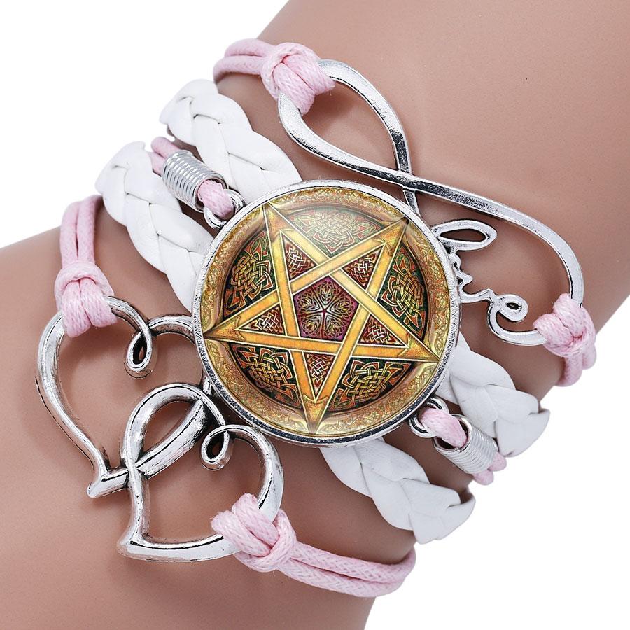 Pentagram Satanic Glass Bracelet