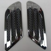 2 шт./компл. высокое качество боковые зеркала автомобиля воздушный поток для Fender отверстие крышка воздушного фильтра Решетка воздуховод украшения ABS пластик Стикеры