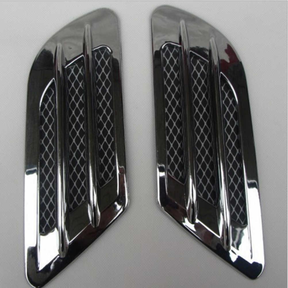 2 pièces/ensemble de haute qualité côté voiture Air flux Vent pour garde-boue trou couverture d'admission Grille conduit décoration ABS en plastique autocollant