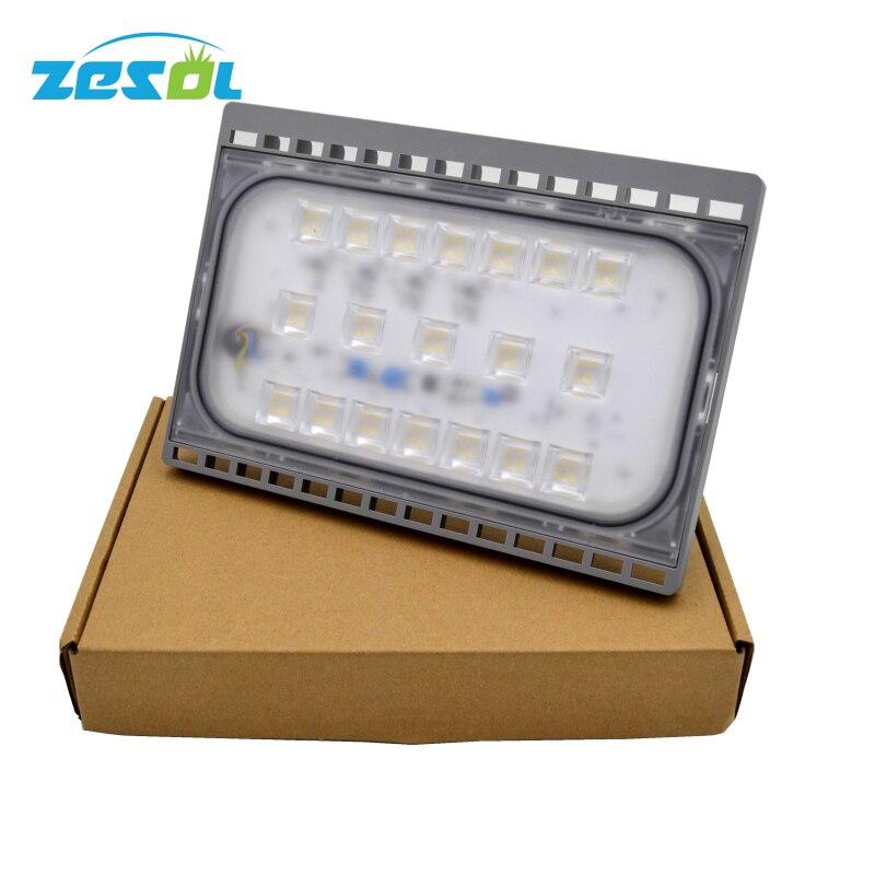 ZESOL 10PCS focos led 220v exterior 50W iluminacion ip65 proyector 12v 24v 12v led floodlights home garden 10pcs 12v 24v red