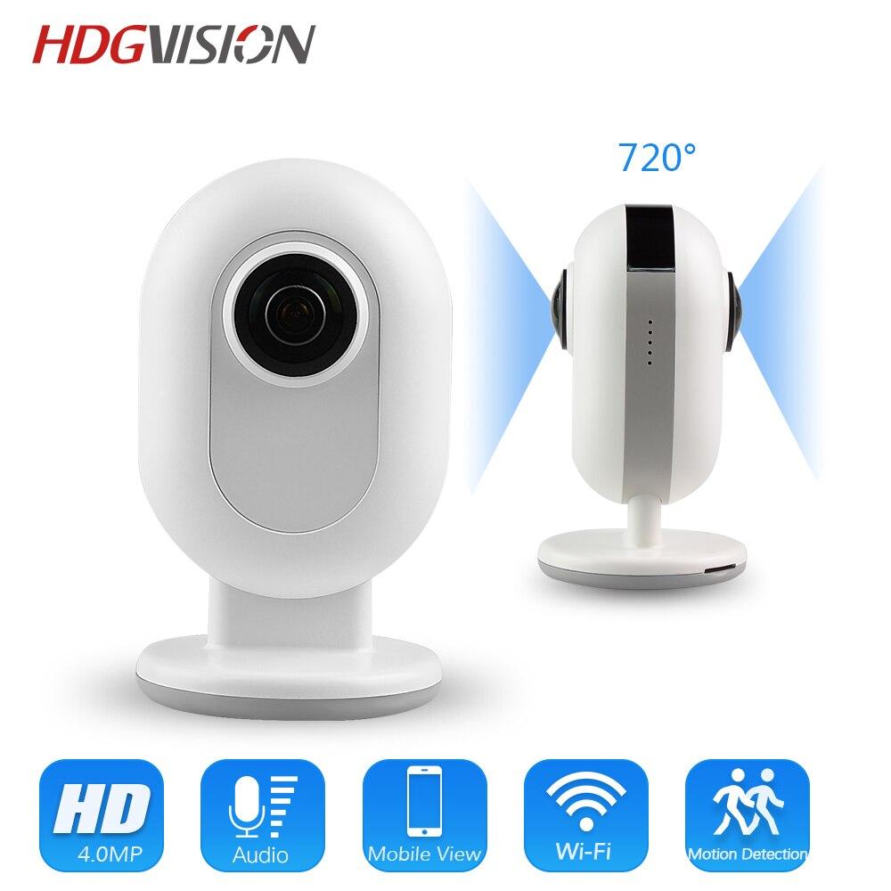 Hdgvision 4.0mp панорамный WI FI IP Камера vrdual объектив H.265 720 градусов Камера Широкий формат Fisheye IP Камера 2592*1520 мегапикселя