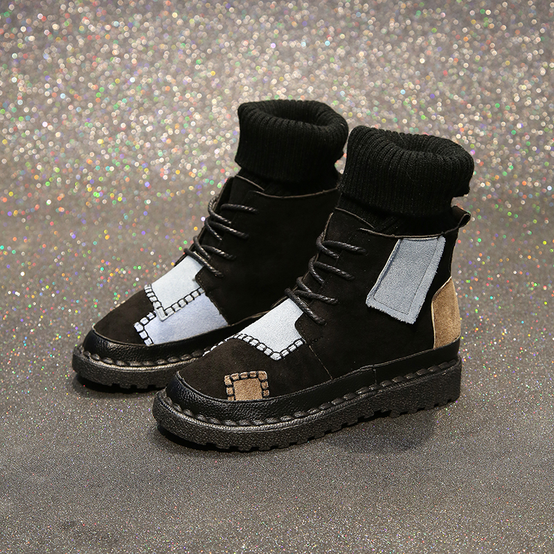 Luxury Shoes Women Designers Black Beige Winter Boots for Female Rubber Bottom Casual Shoes Women High Top Boots Brands 40