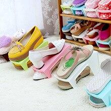 Пространства краткое пластиковой экономия коричневый полка стойки шкаф розовый обуви зеленый