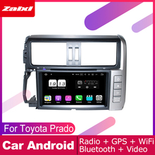 ZaiXi android car dvd gps multimedia player For Toyota Prado 2010~2013 car dvd navigation radio video audio player Navi Map yessun car android player multimedia for toyota fj cruiser radio stereo gps map nav navi navigation no cd dvd 10 hd screen