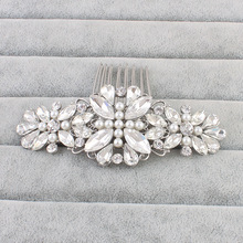 Women Lady Girls gifts Crystal Flower Hairpin Brides Hair Combs Bridesmaid Jewelry wedding bridal accessories hair jewelry HX045