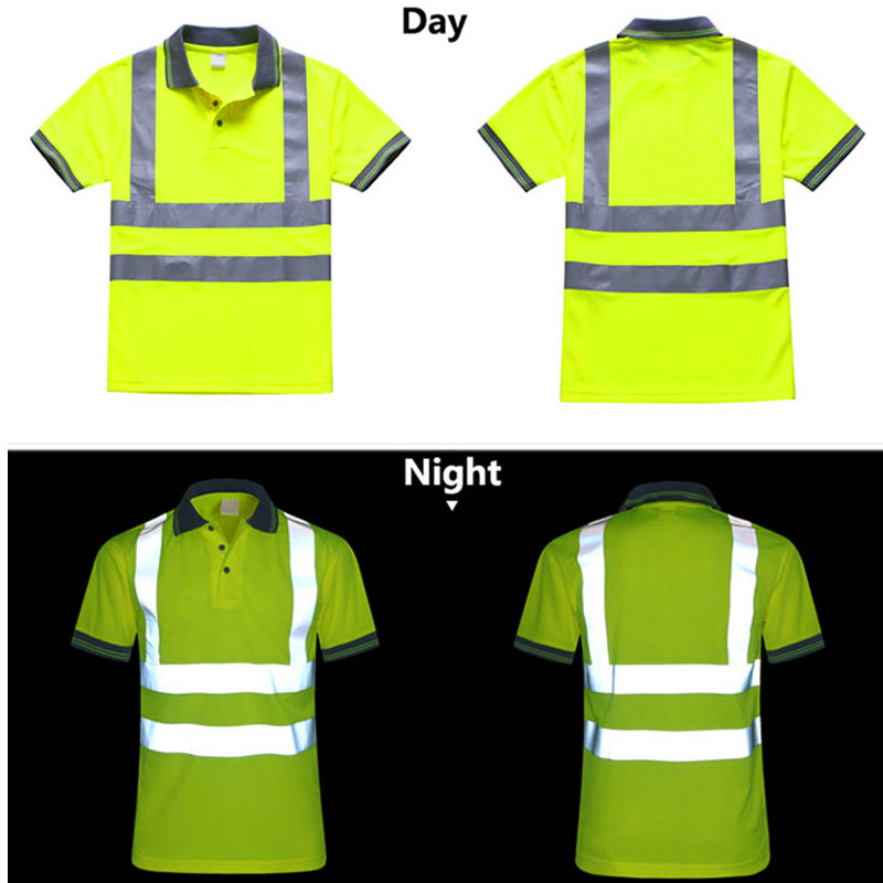Night Work Reflective Safety Shirt Clothing Quick Drying Short Sleeved T-shirt Protective Clothes For Construction Workwear