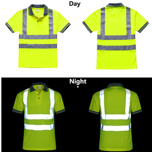 Image 1 - Night Work Reflective Safety Shirt Clothing Quick drying Short sleeved T shirt Protective Clothes for Construction Workwear