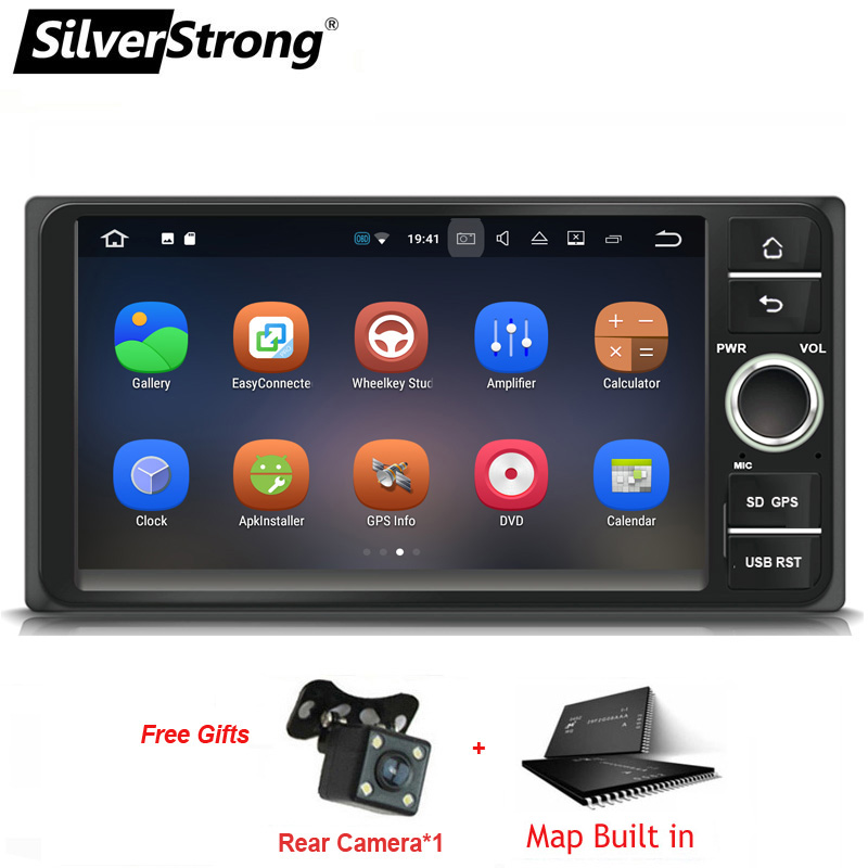 SilverStrong 2Din IPS Android9 0 Universal Car 2Din E120 For Toyota Corolla 7inch Video for hilux