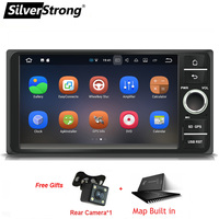 SilverStrong 2Din IPS Android9.0 Universal Car 2Din E120 For Toyota Corolla 7inch Video for hilux Rav4 prado 4tuner IPS panel