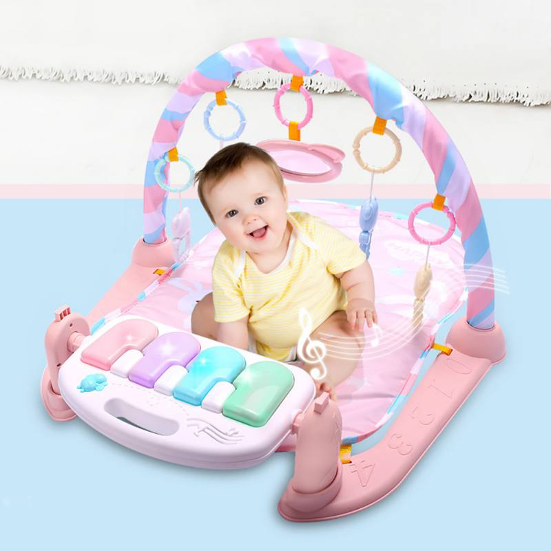 2018 Novelty Baby Play Mat Fitness Bodybuilding Frame Pedal Piano Music Carpet Blanket A ...