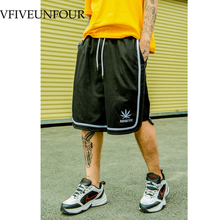 VFIVEUNFOUR 2019 Vintage Summer Side stripe fashion men Hip Hop shorts Sweatpants Mens/Women Loose Shorts Drawstring Streetwear