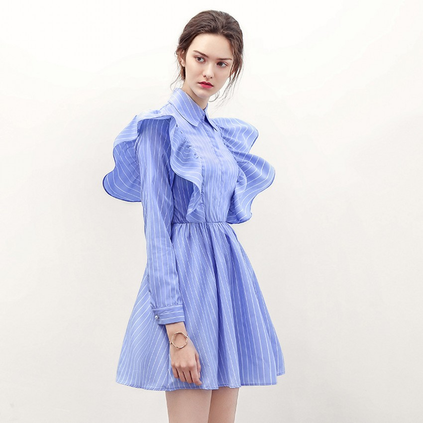 Ruffle Shirt Dress