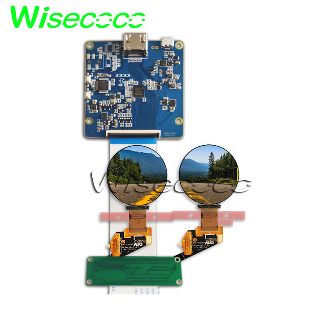 Round oled display screen 1 39' 400x400 H139BLN01 0 hdmi mipi board fit for  wearable watch diy project