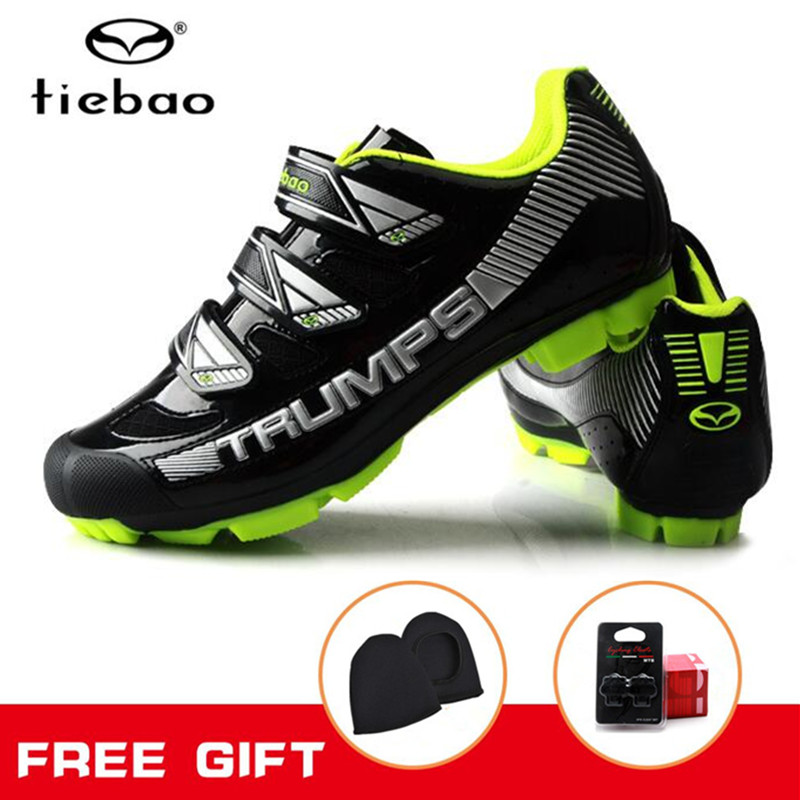 TIEBAO Cycling shoes men sneakers women bicycle bike SPD system Self-locking Breathable MTB cycling boots for woman sport shoes tiebao mtb bike self locking shoes ride bicycle shoes breathable cycling shoes for women men mtb ciclismo zapatos