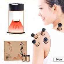 SHARE HO 30pcs Mini Moxa Sticker Moxibustion Rolls Heating Therapy Traditional Chinese Moxa Burner Warm Meridian Acupuntura