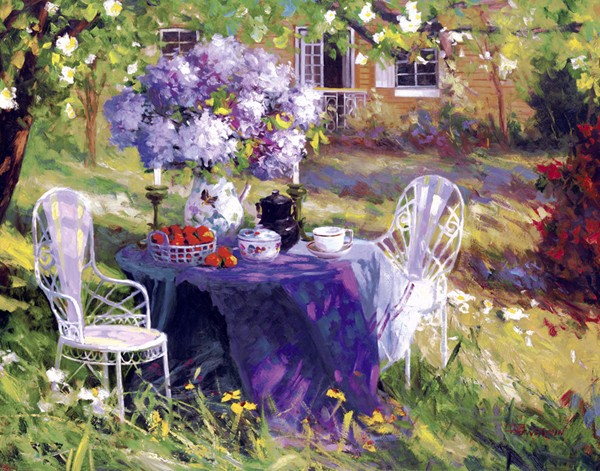 Garden Painting Scenery For Embroidery Needlework 14CT Counted Unprinted DMC DIY Cross Stitch Kits Handmade Art Wall Decor