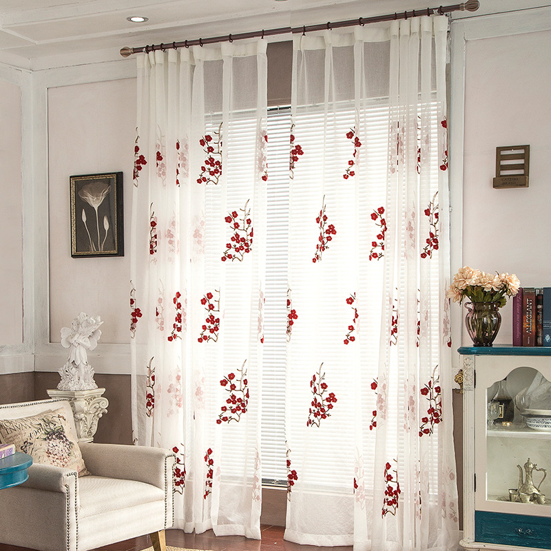 High Quality European And American Style Floral Design Curtain Window  Treatment For Living Room Bed Room Tulle Window Screens In Curtains From  Home U0026 Garden ...