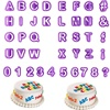 40 PCS Letter Digital Plastic Cookie Mold Fondant Cake Decoration Printing Mold Home Garden Kitchen Dining Bake Ware