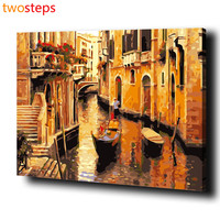 TwoSteps DIY Digital Canvas Oil Painting By Numbers Frameless Coloring By Numbers Acrylic Paint By Number