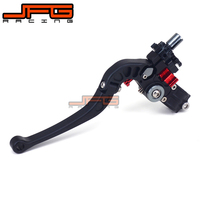 Universal 7 8 22MM Handlebar CNC Foldable Folding Perch Cable Clutch Lever For Street Bike Supermoto