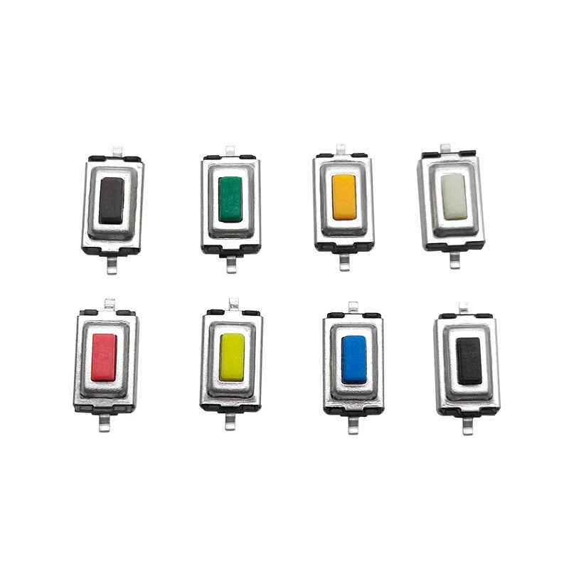 50 stuks 3x6x2.5mm Mini Stretch SMD Tact Switch 2P Tactile Drukschakelaars Sets voor Huishoudelijke Elektrische Apparaten Geel Zwart