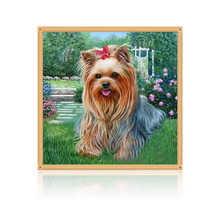 DIY 5D Diamond Embroidery Painting Cross Stitch Mosaic Dog Animal Home Decor 30cm*30cm #K400Y#