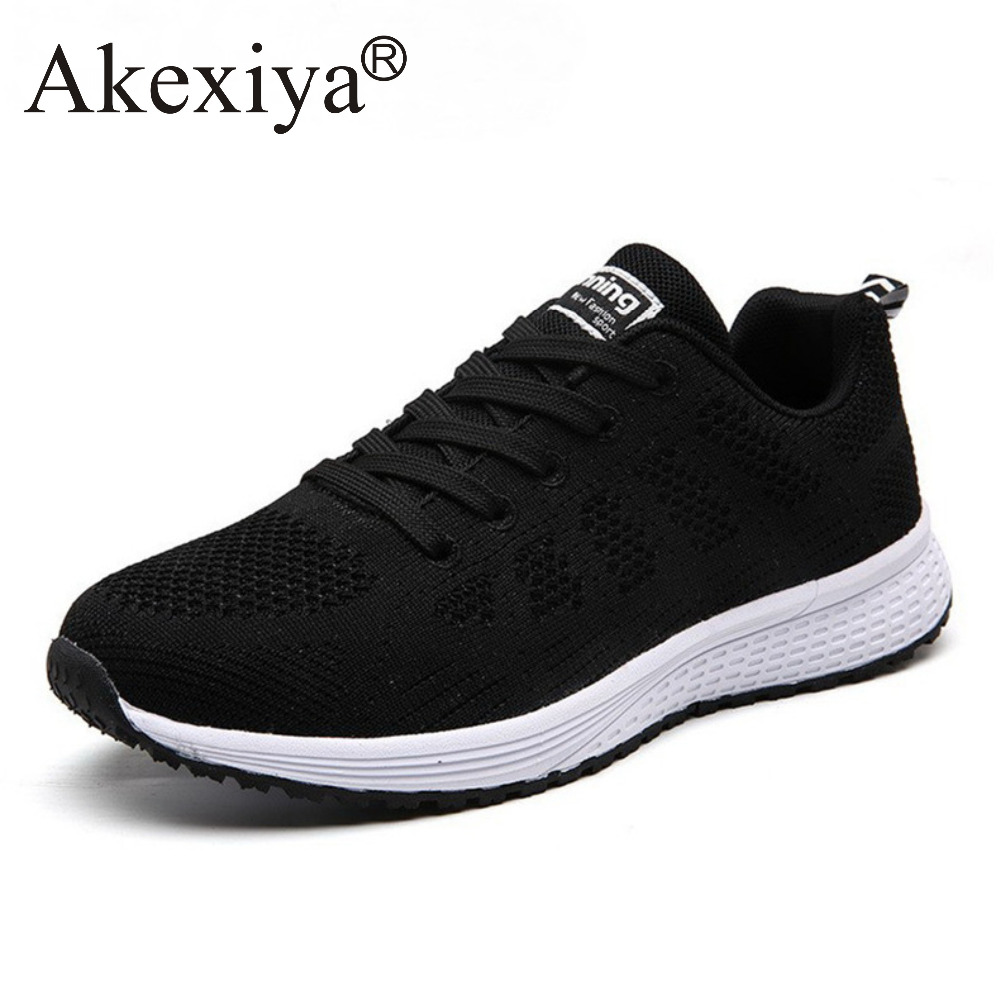 Akexiya New Listing Hot Sales Summer Breathable Fly Line Women Running Shoes Woman Sneakers Men Outdoor Sports Shoes summer breathable air cushion fly line sports women running shoes shock absorption increase tourism shoes spring female sneakers
