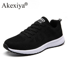 Akexiya New Listing Hot Sales Summer Breathable Fly Line Women Running Shoes Wom