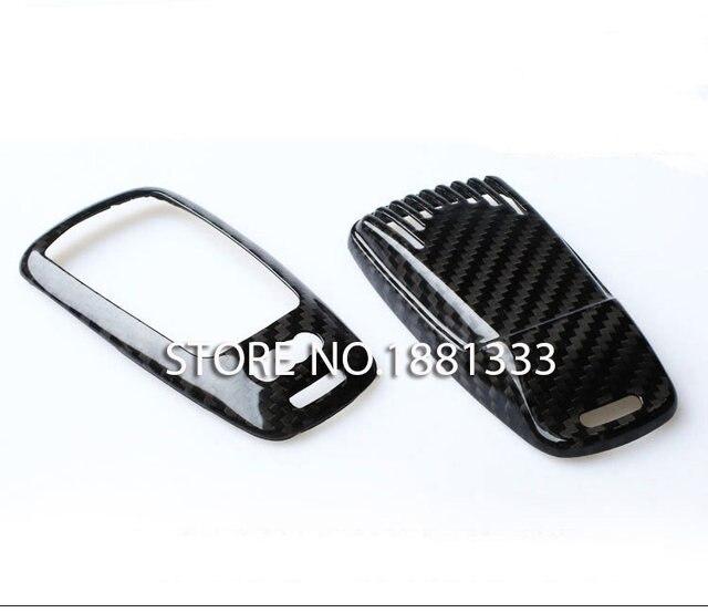 Online shop ttcr ii carbon fiber smart key cover key case key fob ttcr ii carbon fiber smart key cover key case key fob box for audi new a4 a4l a5 s5 2017 q7 2016 tt 2015 2017 sciox Images