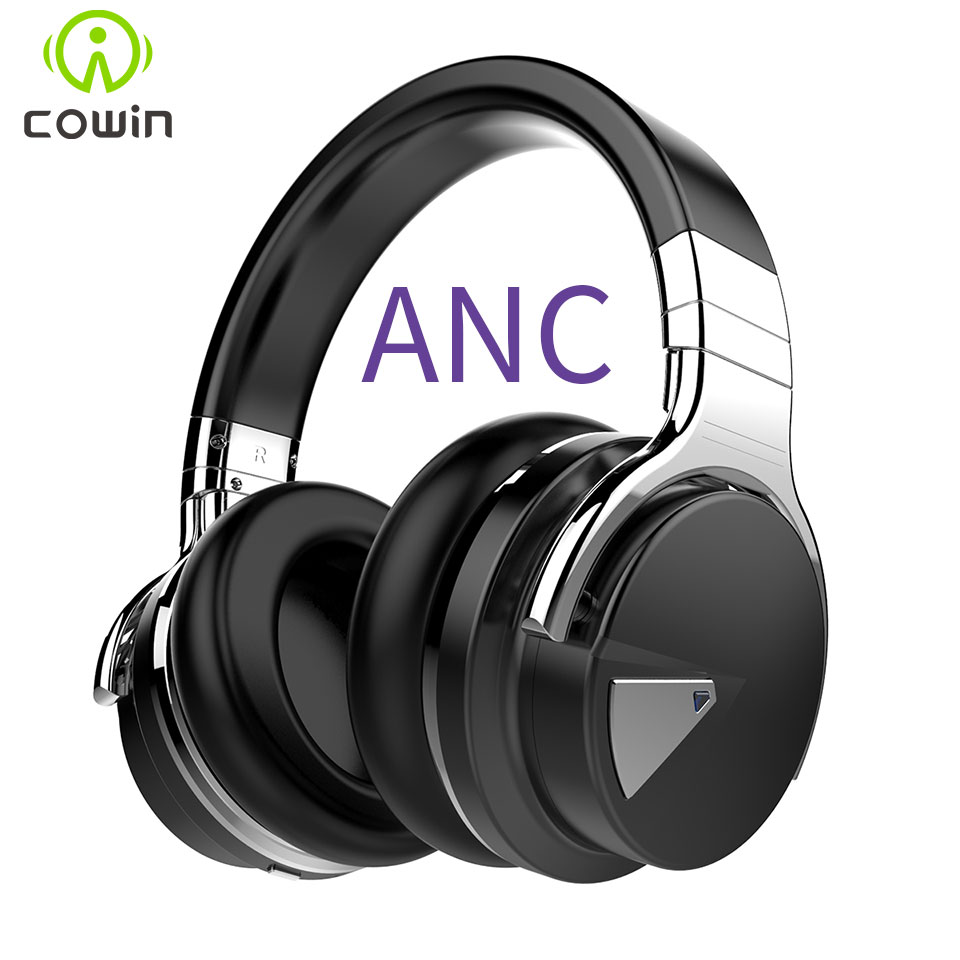 Cowin E 7 Active Noise Cancelling Bluetooth Headphones Wireless Stereo Headset Deep bass Headphones with font