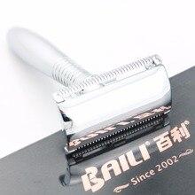 BAILI Safety Razor Silver Long handle ZAMAK Zinc Alloy +5 Blades +Case BD191 Excellent quality 10SETS/LOT NEW
