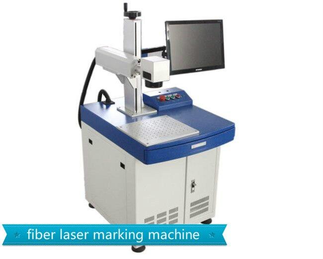 Desktop Metal Label Name Plate Fiber Laser Marking Machine for sale
