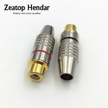 20Pcs RCA Female Plug Soldering Audio Video Speaker RCA Socket Gold Plated Metal Connector