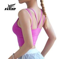 HTLD Новый Push Up Active бюстгалтеры без проволоки фитнес энергии бюстгальтер с Pad Bralette противоударный безрукавки для женщин тренировки