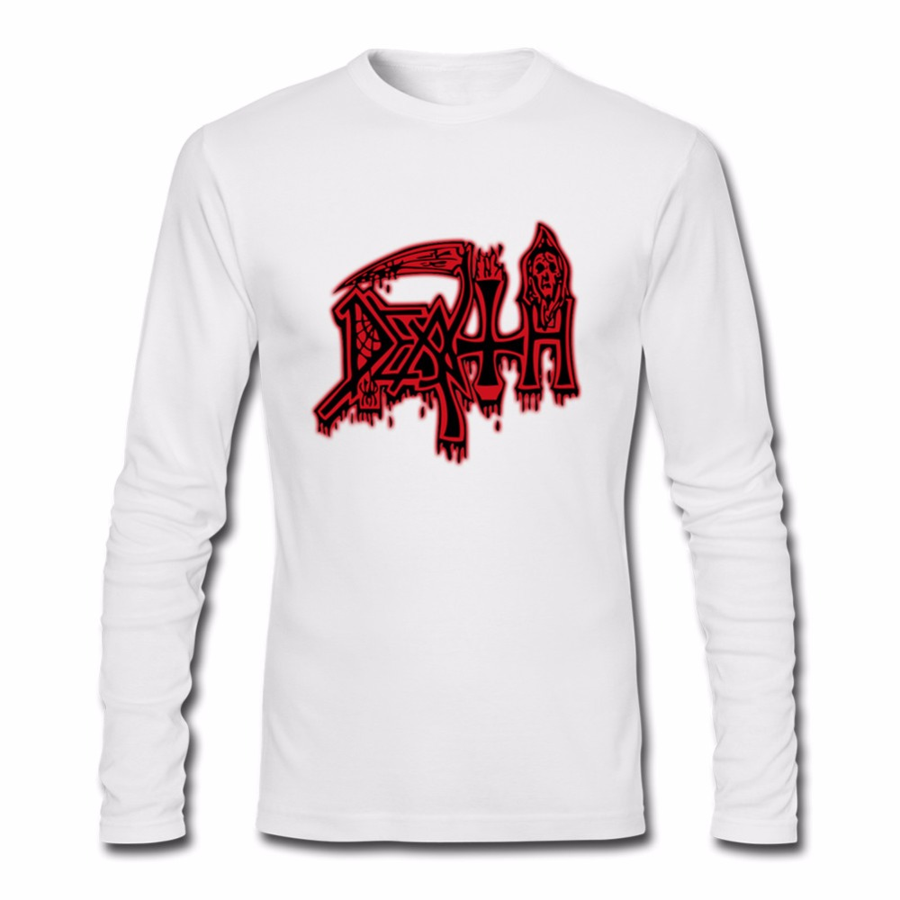 Men S Long Sleeve DEATH Class Logo T Shirt ROCK BAND HEAVY METAL 3D Funny Tshirts