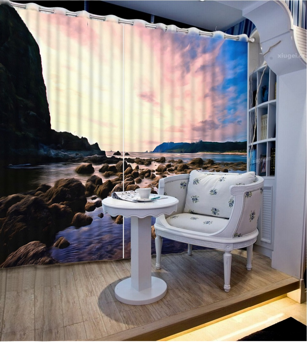 Home Goods Drapes: Custom 3d Window Curtains For Living Room Luxurious Waves